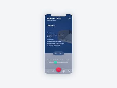 Unit controller app mobile ui app design app smarthome