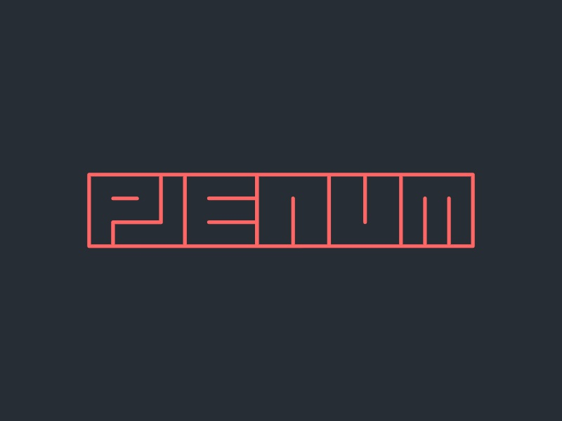 Plenum records logo identity label music