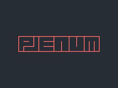 Plenum records logo identity label music