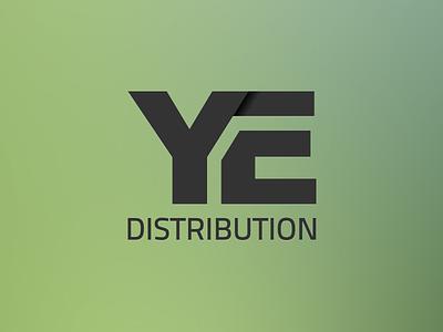 YE distribution logo branding identity