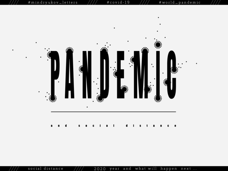 PANDEMIC // covid 19 free buy for sale disease social print lettering design vector illustration typography concept virus bacterium pandemic covid covid 19 covid-19 covid19