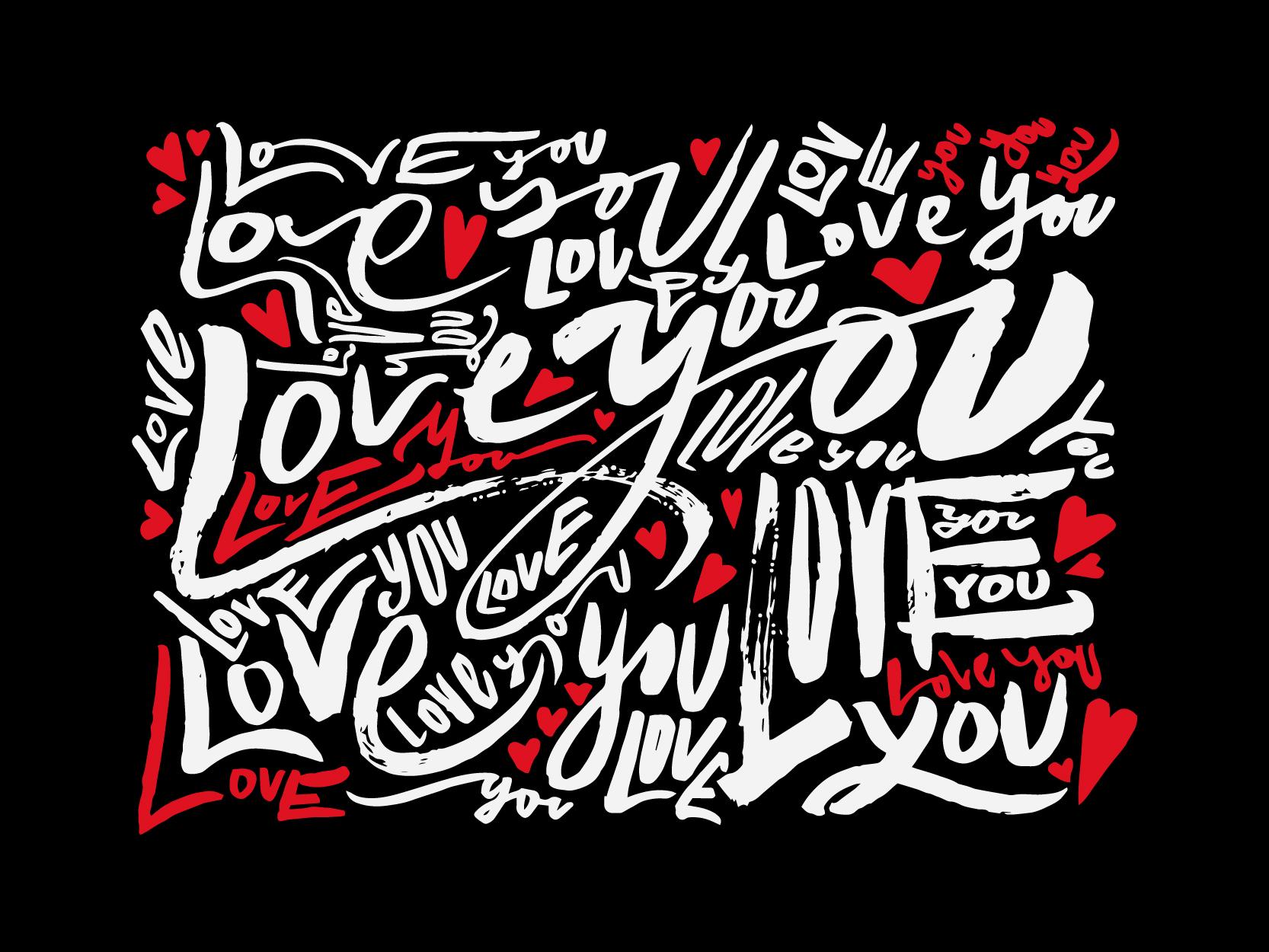 078. love you pattern 02