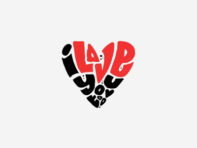 I LOVE you TOO / free vector for sale