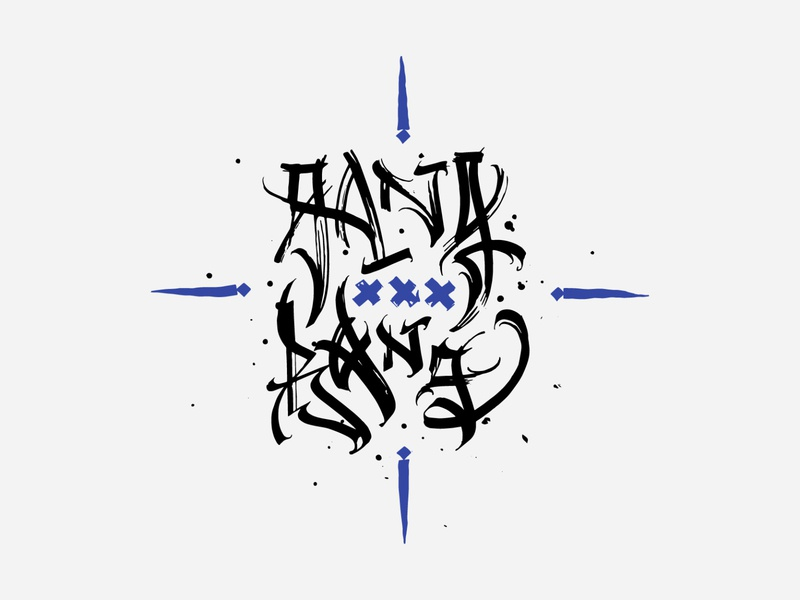 GANG BANG freelance free for sale print design logo calligraphy typography lettering vector print illustration modern logo gothic xxx porn sex erotic gang bang bang gang