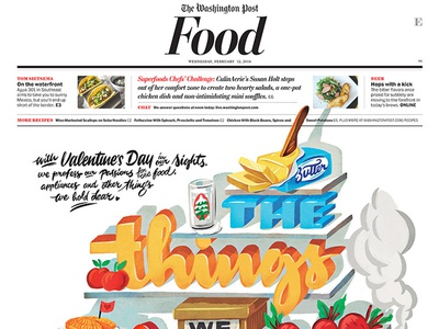 Washington Post Front valentine food carbs pasta butter tarte beets refrigerator milk bbq smoker washington post