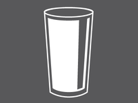 Standard draft beer icon