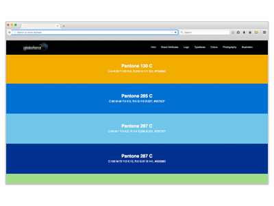 Color palette brands guidelines color palette bars stripes