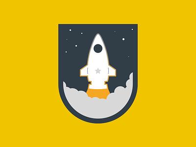 Rocket smoke orange fly rocket