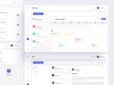 Meeting notes calendar flat desktop web saas dashboad app minimal design ux ui