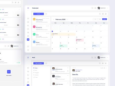 Meeting notes calendar flat desktop web saas dashboad app minimal design ux ui