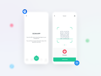 Scan App logo brand adaptive app minimal ux design ui