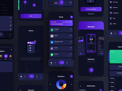 Subscription App logo brand adaptive app ux minimal design ui