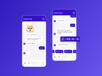 Charlie bot message chatbot chat ux app minimal design ui