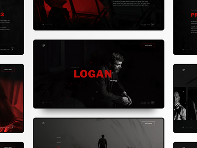 Logan film movie hugh jackman wolverine logan x-men marvel minimal design ui