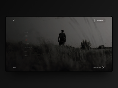 Promo menu wolverine logan marvel movie film minimal design ui