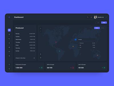 Map Dashboard desktop web ux dashboad saas app minimal design ui