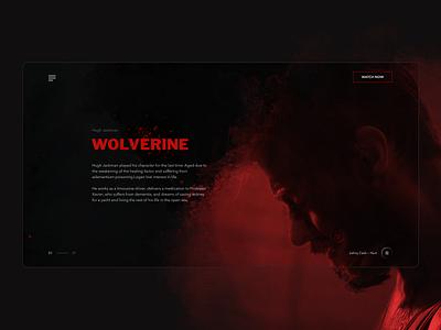 Logan Wolverine x-men logan wolverine film movie app ux minimal design ui