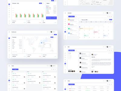 SaaS Dashboard system desktop web dashboad saas app ux minimal design ui