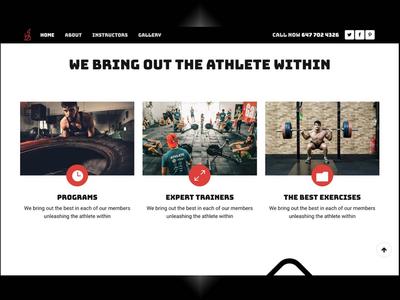 CrossFit gym website