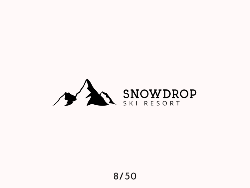 Daily Logo Challenge Day 8 - ski resort ski resort design dailylogodesign dailylogochallange dailylogo vector logo branding