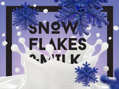 Snowflakes & Milk poster