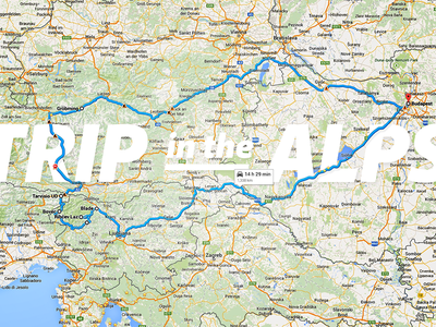 Trip in the Alps alps maps travel slovenia route