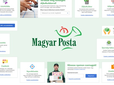 Hungarian Post Web Applications UI Kit elements panels posta ui userinterface