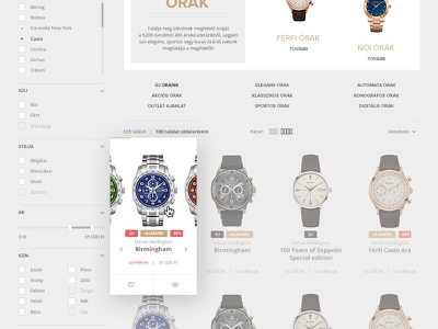 ecommerce list page redesign web branding gray ecommerce webshop list interface ui website watch