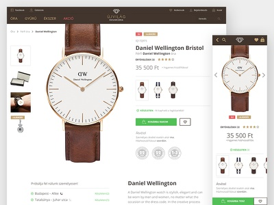 ecommerce product page website webshop web watch ui redesign list interface gray ecommerce branding