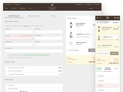 ecommerce checkout flow payment branding ecommerce gray interface checkout redesign ui watch web webshop website