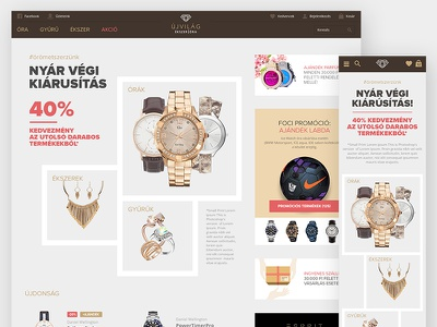ecommerce sale page website webshop web watch ui redesign checkout interface gray ecommerce branding sale