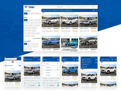 JóAutók.hu list page list page listing page marketplace vehicle car search ui desgin ui  ux design uidesign interface brand identity web ecommerce branding ui