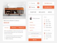 Furniture eCommerce UI