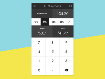 Daily UI 004 - Tip Calculator