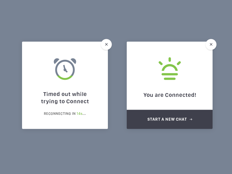 Daily UI 011 - Flash Message chat minimal flat button modal interactive ui form success error dailyui