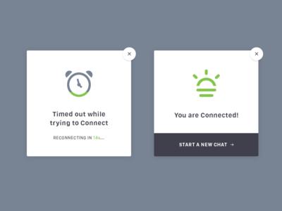 Daily UI 011 - Flash Message chat minimal flat button modal interactive ui form success error dailyui