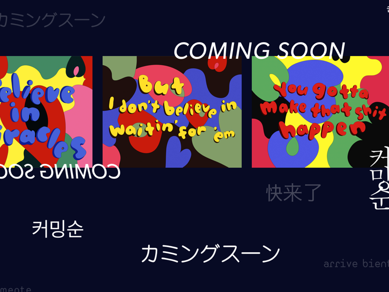 Coming soon korean typography pop art edit