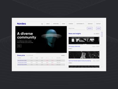 Nordea. Redesign concept