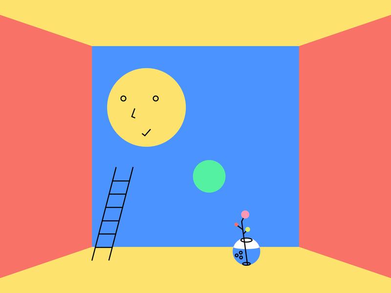 Habit — Daily Tracker. Illustration flower character ledder dot circle illustration