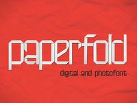 Paperfold Typeface - Digital & Photofont
