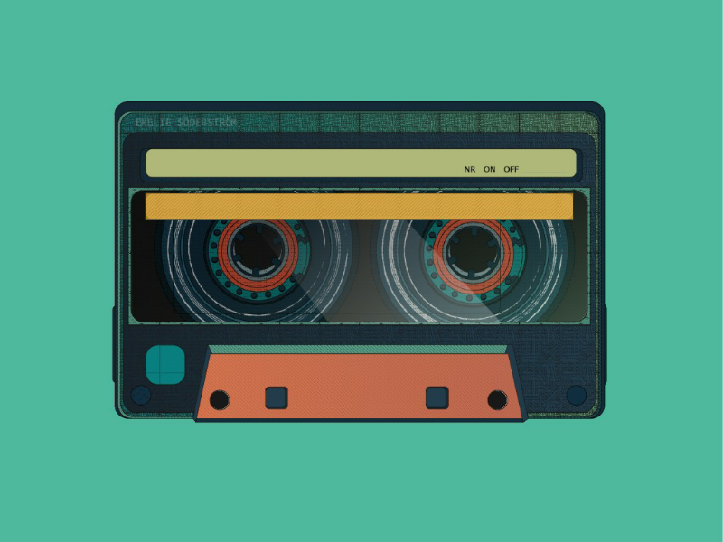 I made you a little mixtape texture vector old vintage retro mixtape