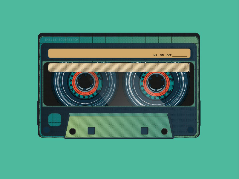 I made you a mixtape texture old retro vintage music mixtape