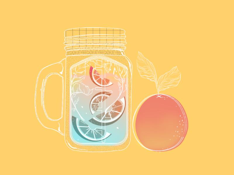 Mojito vibes summer drink colours fruit grapefruit mojito