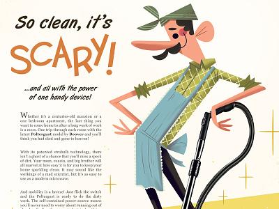 So Clean, It's Scary! luigi nintendo advertising illustration kolbisneat andrew kolb