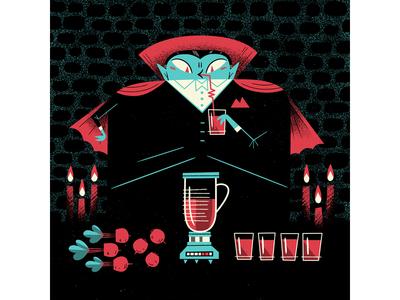Vegetarian Vampire andrew kolb kolbisneat illustration commission beets vegetarian vampire