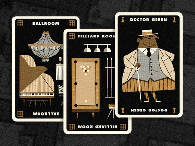 Clue Hand 1 andrew kolb kolbisneat illustration limited palette personal project board game cluedo clue