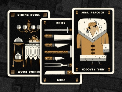 Clue Hand 3 andrew kolb kolbisneat illustration limited palette personal project board game cluedo clue