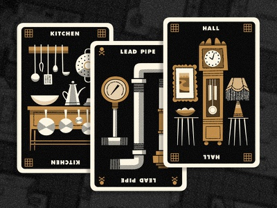 Clue Hand 4 andrew kolb kolbisneat illustration limited palette personal project board game cluedo clue