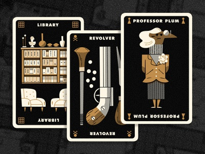 Clue Hand 5 andrew kolb kolbisneat illustration limited palette personal project board game cluedo clue