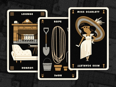 Clue Hand 6 andrew kolb kolbisneat illustration limited palette personal project board game cluedo clue